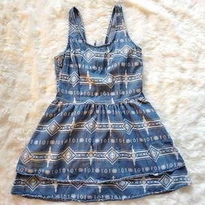 TOPSHOP CHAMBRAY DENIM DRESS